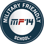 """2014 Military Friendly School"" by <i>G.I. Jobs</i> magazine"